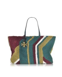 Tory Burch | Multicolor Britten Faux-shearling Reversible Tote | Lyst