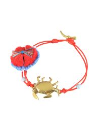Tory Burch - Red Crab Charm Thread Bracelet - Lyst