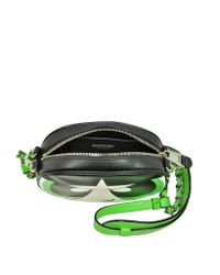 Moschino - Buttercup Black And Green Leather Shoulder Bag - Lyst