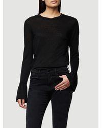8835593c3de FRAME Ruffle Cuff Long Sleeve in Black - Lyst