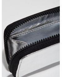Frank And Oak - Metallic The Villa Mini Leather Zip Wallet In Silver - Lyst