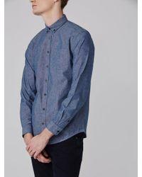 Frank + Oak | The Odessa Chambray Shirt In Blue for Men | Lyst