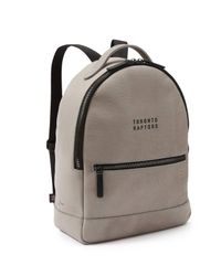 Frank + Oak - Gray Raptors Pebbled Italian Leather Backpack In Grey - Lyst