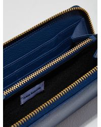 Frank And Oak - Blue The Citta Leather Zip Wallet In Indigo - Lyst