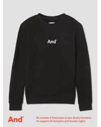 "Frank And Oak - ""and"" Man French Terry Crewneck In Black for Men - Lyst"