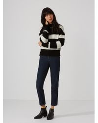 Frank And Oak - Blue The Stevie High-waisted Tapered Jean In Dark Indigo - Lyst
