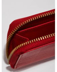 Frank And Oak - The Villa Mini Leather Zip Wallet In Red - Lyst
