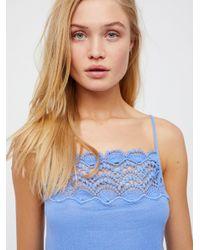 Free People - Blue Abbie Cotton Maxi Dress - Lyst