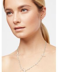 Free People - Multicolor Quartz Point Healing Necklace - Lyst