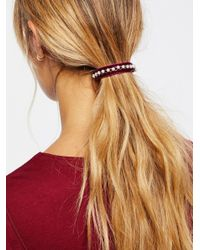 Free People | Multicolor Accessories Hair Accessories Velvet Pony Barrette | Lyst