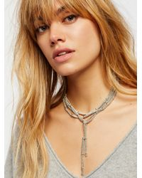 Free People - Multicolor Cora Chain Wrap Scarf Necklace - Lyst