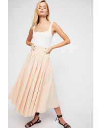 Free People - Pink Sunrise Skirt By Endless Summer - Lyst