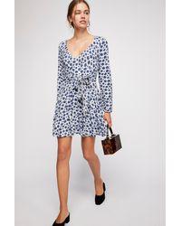 e4325eb3a652 Free People Pradera Wrap Mini Dress in Blue - Lyst