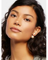 Free People - Metallic Double Sided Orbit Stud Earrings - Lyst