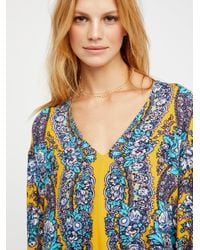 Free People - Blue Lovely Dreams Print Tunic - Lyst