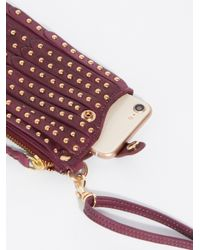 Free People Multicolor Studded Iphone Wallet