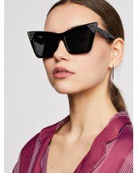 Free People - Black Diamante Embellished Sunglasses - Lyst