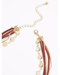 Free People - Multicolor Wanted & Wild Leather Bolo Necklace - Lyst