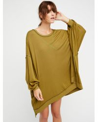 Free People - Green We The Free So Smooth Tee - Lyst
