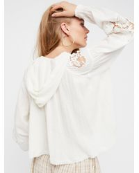 Free People - White Tropical Summer Pullover - Lyst