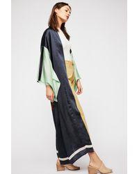 Free People - Black Rising Sun Maxi Kimono - Lyst
