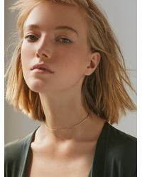 Free People - Metallic 14k Gold Ball Choker - Lyst