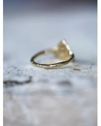 Free People | Metallic 14k Pyramid Diamond Ring | Lyst