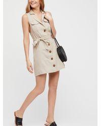 Free People - Natural Hepburn Mini Dress - Lyst