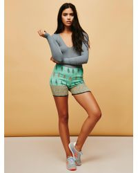 Free People - Blue Fp One Smocked Bike Shorts - Lyst