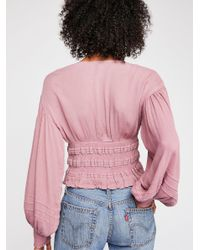 Free People - Pink Coco Loco Cute Top - Lyst