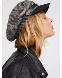 Free People - Gray Wake Up Call Herringbone Lieutenant Hat - Lyst