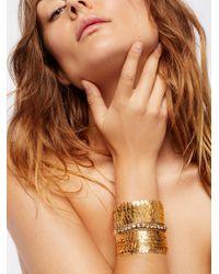 Free People - Metallic Gigi Brass Empress Cuff - Lyst