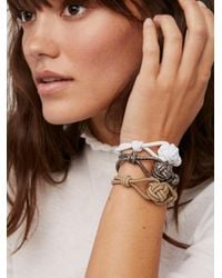 Free People - Brown Knot Hair Ties - Lyst