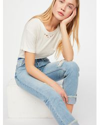 Free People - Blue Slouchy Cuff - Lyst