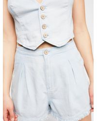 Free People - White Poppy Vest & Short Co-ord - Lyst