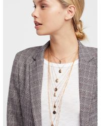 Free People - Metallic Mary Medallion Charm Necklace - Lyst