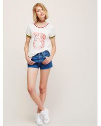 Free People - Blue Levi's 501 Denim Shorts - Lyst