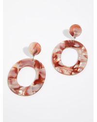 Free People - Multicolor Lucy Resin Hoop Earrings - Lyst