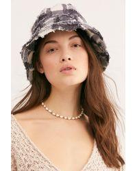 Free People - Black Penny Plaid Bucket Hat - Lyst