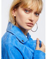 Free People - Metallic Accessories Jewelry Earrings Hoop Earrings Essential Tube Hoops - Lyst