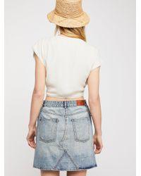 Free People - Blue Scotch & Soda Patchwork Denim Skirt - Lyst