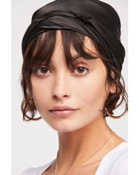 Free People - Black Multi-way Sleep Scarf By Kitsch - Lyst