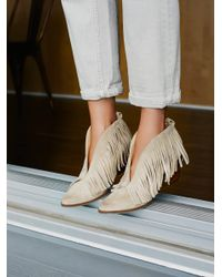 Free People | Natural Tulsi Fringe Boot | Lyst