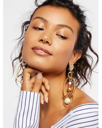 Free People - Multicolor 'round The Town Hoops - Lyst