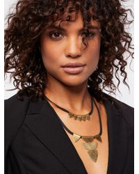 Free People | Black Accessories Designer Jewelry Fossil Cove Brass Collar | Lyst