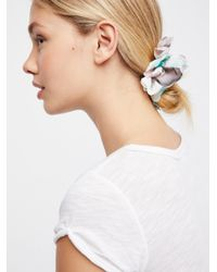 Free People - Blue Chiffon Petal Scrunchie - Lyst