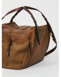 Free People - Brown Avery Washed Tote - Lyst