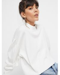 Free People | White Wake Me Up Sweater | Lyst
