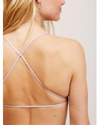 Free People - Pink Essential Lace Racerback - Lyst
