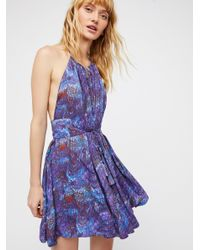 Free People - Purple Marlbelous Mini Dress - Lyst